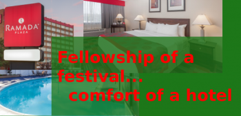Fellowship of a festival... comfort of a hotel.